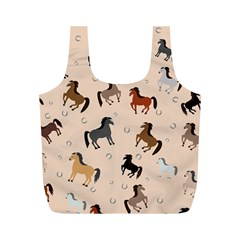 Horses For Courses Pattern Full Print Recycle Bags (m)  by BangZart