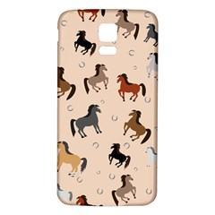 Horses For Courses Pattern Samsung Galaxy S5 Back Case (white)