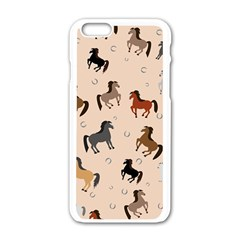 Horses For Courses Pattern Apple Iphone 6/6s White Enamel Case by BangZart