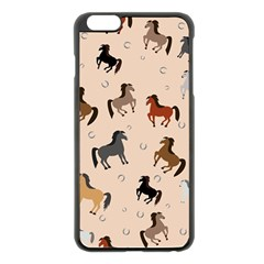 Horses For Courses Pattern Apple Iphone 6 Plus/6s Plus Black Enamel Case by BangZart