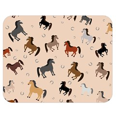 Horses For Courses Pattern Double Sided Flano Blanket (medium)  by BangZart