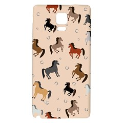 Horses For Courses Pattern Galaxy Note 4 Back Case by BangZart