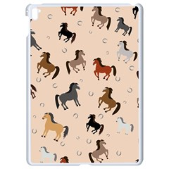Horses For Courses Pattern Apple Ipad Pro 9 7   White Seamless Case