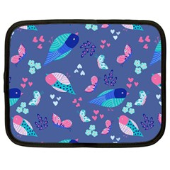 Birds And Butterflies Netbook Case (large)