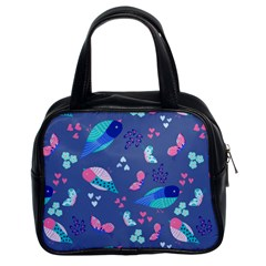 Birds And Butterflies Classic Handbags (2 Sides)