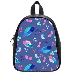 Birds And Butterflies School Bags (small)  by BangZart