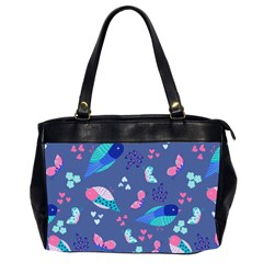 Birds And Butterflies Office Handbags (2 Sides)