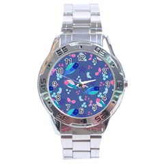 Birds And Butterflies Stainless Steel Analogue Watch by BangZart