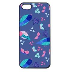 Birds And Butterflies Apple Iphone 5 Seamless Case (black)