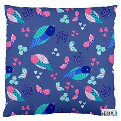 Birds And Butterflies Standard Flano Cushion Case (one Side)