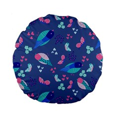 Birds And Butterflies Standard 15  Premium Flano Round Cushions by BangZart