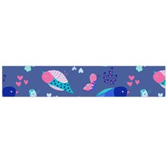 Birds And Butterflies Flano Scarf (large)
