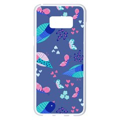 Birds And Butterflies Samsung Galaxy S8 Plus White Seamless Case by BangZart