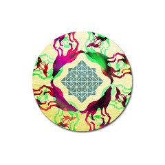 Several Wolves Album Magnet 3  (round) by BangZart