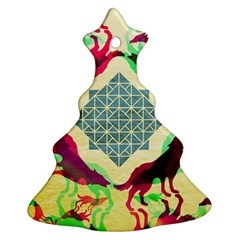 Several Wolves Album Christmas Tree Ornament (two Sides)