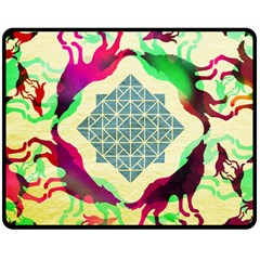 Several Wolves Album Double Sided Fleece Blanket (medium)  by BangZart