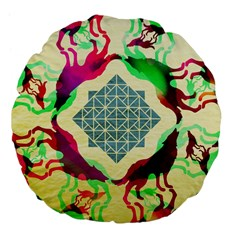 Several Wolves Album Large 18  Premium Flano Round Cushions by BangZart