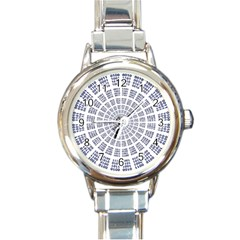 Illustration Binary Null One Figure Abstract Round Italian Charm Watch