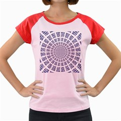 Illustration Binary Null One Figure Abstract Women s Cap Sleeve T Shirt