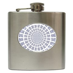 Illustration Binary Null One Figure Abstract Hip Flask (6 Oz) by BangZart