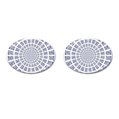 Illustration Binary Null One Figure Abstract Cufflinks (oval) by BangZart