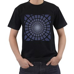 Illustration Binary Null One Figure Abstract Men s T Shirt (black) by BangZart