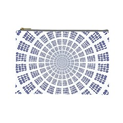 Illustration Binary Null One Figure Abstract Cosmetic Bag (large)  by BangZart