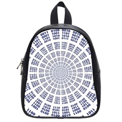 Illustration Binary Null One Figure Abstract School Bags (small)  by BangZart