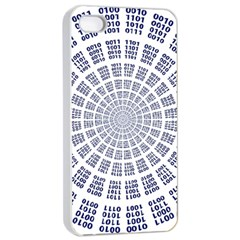 Illustration Binary Null One Figure Abstract Apple Iphone 4/4s Seamless Case (white) by BangZart