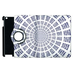 Illustration Binary Null One Figure Abstract Apple Ipad 2 Flip 360 Case by BangZart