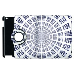Illustration Binary Null One Figure Abstract Apple Ipad 3/4 Flip 360 Case by BangZart