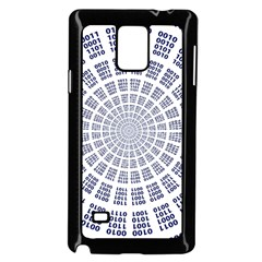 Illustration Binary Null One Figure Abstract Samsung Galaxy Note 4 Case (black)
