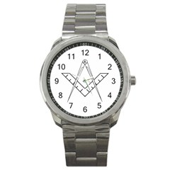 Lge Square&compass Sport Metal Watch by mdnp