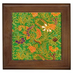 Art Batik The Traditional Fabric Framed Tiles by BangZart