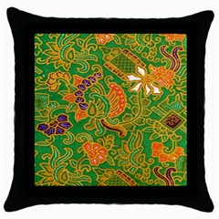Art Batik The Traditional Fabric Throw Pillow Case (black) by BangZart