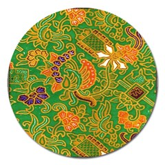 Art Batik The Traditional Fabric Magnet 5  (round) by BangZart