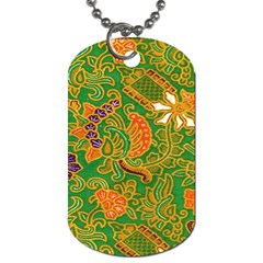 Art Batik The Traditional Fabric Dog Tag (two Sides)