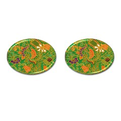 Art Batik The Traditional Fabric Cufflinks (oval) by BangZart