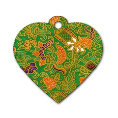 Art Batik The Traditional Fabric Dog Tag Heart (one Side) by BangZart