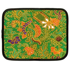 Art Batik The Traditional Fabric Netbook Case (xxl)  by BangZart