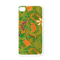 Art Batik The Traditional Fabric Apple Iphone 4 Case (white)