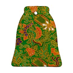 Art Batik The Traditional Fabric Bell Ornament (two Sides) by BangZart