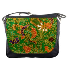 Art Batik The Traditional Fabric Messenger Bags by BangZart