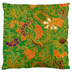 Art Batik The Traditional Fabric Large Cushion Case (two Sides) by BangZart