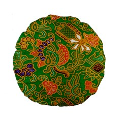 Art Batik The Traditional Fabric Standard 15  Premium Round Cushions
