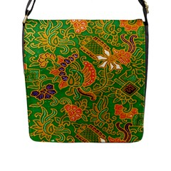 Art Batik The Traditional Fabric Flap Messenger Bag (l)  by BangZart