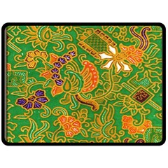 Art Batik The Traditional Fabric Double Sided Fleece Blanket (large)