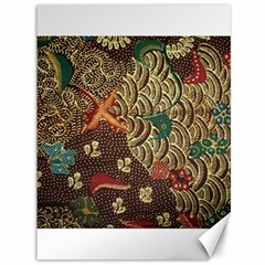Art Traditional Flower  Batik Pattern Canvas 36  X 48