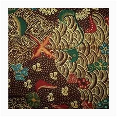 Art Traditional Flower  Batik Pattern Medium Glasses Cloth (2 Side) by BangZart