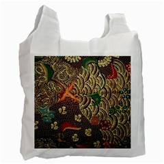 Art Traditional Flower  Batik Pattern Recycle Bag (two Side)  by BangZart